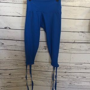 Greater than Sports blue tie cuff yoga pants